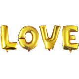 """Набор шаров-букв 16""""/41 надпись """"LOVE"""", Золото"""