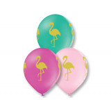 """Шелкография пастель 14""""/30 см Фламинго"""