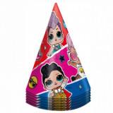 Колпаки Кукла ЛОЛ (LOL) Разноцветные полосы, 6 шт.