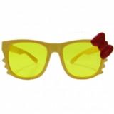 Очки с бантиком, Желтые