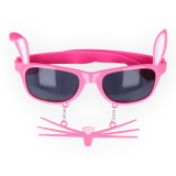 Очки с бантиком, Розовый Леопард