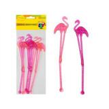 Палочки для коктейля, Фламинго 6 шт.