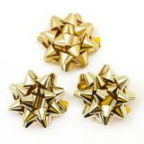 Бант-Звезда, Золото, Металлик, 7 см.