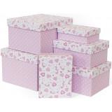 Коробка подарочная Нежные единороги, Розовый, 23*19*13см