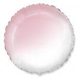 "Шар Круг, Розовый Градиент 18""/45 см."