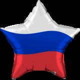 "Шар Звезда, Триколор, 18""/45 см"