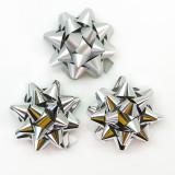 Бант-Звезда, Серебро, Металлик, 7 см.